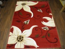 Modern 7x5ft 150x210cm Woven Backed Lily Rugs Top Quality Red/Beiges BARGAINS